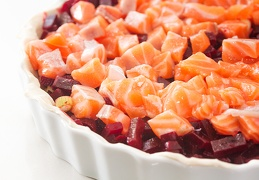 Apr 12 - Salmon-beet quiche