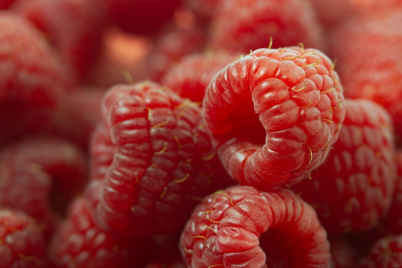 Raspberries. Not from my garden, it is not the season.