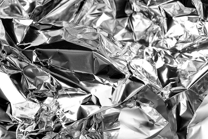 Aluminium foil in B&W