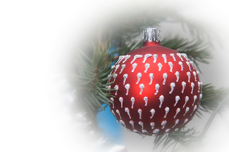 A quick edit of a ball in my Christmas tree
