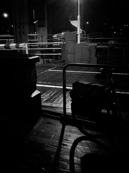 Handheld night snapshot on the ferry to home tonight.