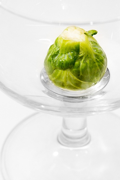 A common Brussels sprout, ready to be cooked  :)