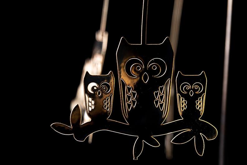 Detail of a tealight carousel