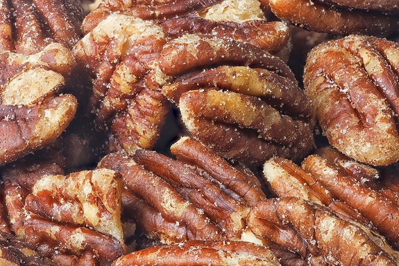 Salted pecan nuts