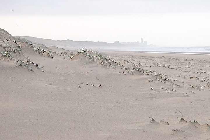 View on Zandvoort on a beautiful but fresh morning walk on the beach.