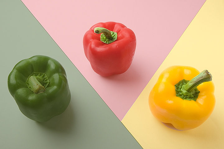 Needed 3 colored peppers for dinner. Made so many editing steps, don't think I can ever reproduce this again.