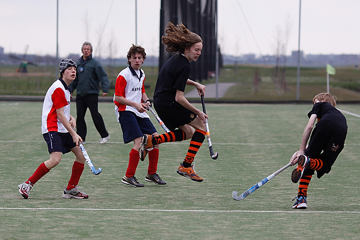 A very late afternoon and cold hockey game today….Kraaien JB1 - Abcoude JB3: 5-0