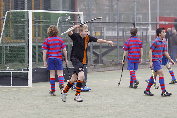 """An """"early"""" and somewhat misty game today. Haarlem JB2 - Kraaien JB1: 2-8"""