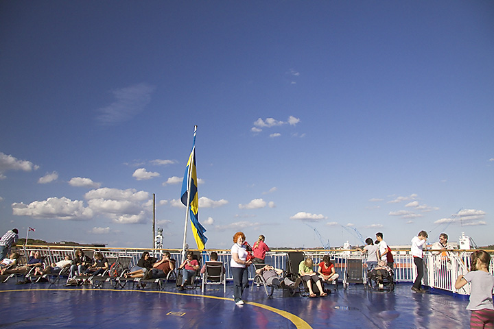 Snapshot on the deck of the ferry from Kiel to Göteborg