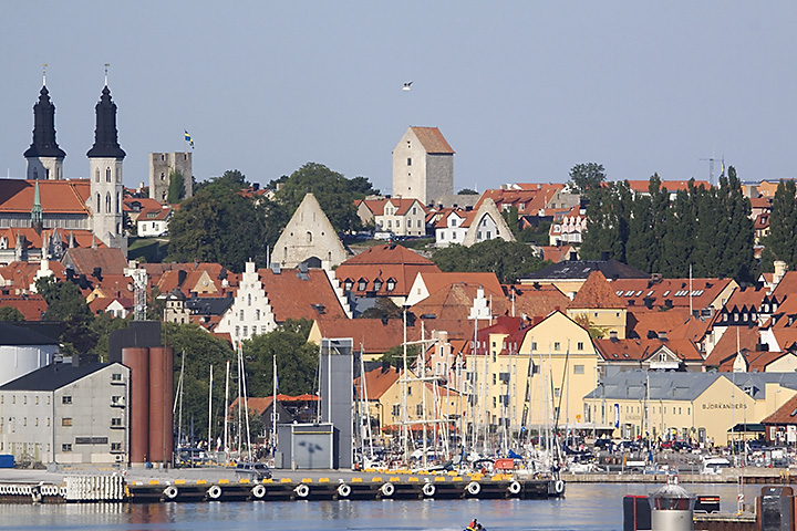 View on Visby. We had to make a (small) detour, since some weeks ago two ferries collide and they skipped the ferry from Öland to Gotland.