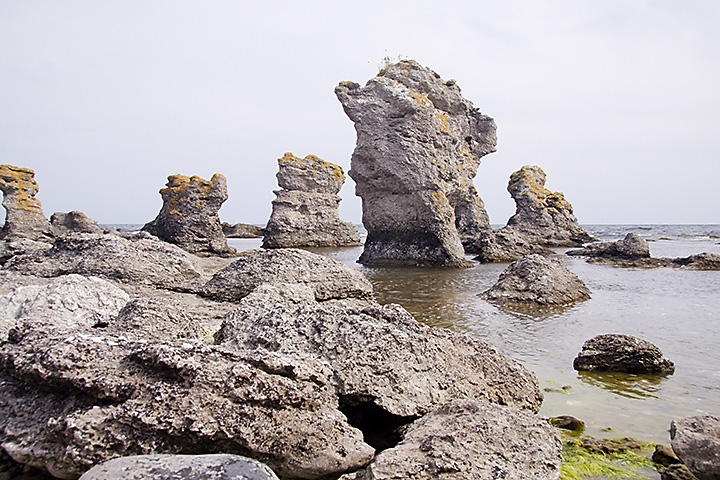 Some beautiful rocks on the southeast coast of Gotland.